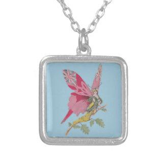 vintage patriotic butterfly union jack pendant
