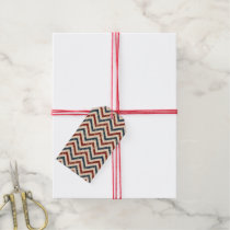 Vintage Patriotic Chevron Pattern Gift Tags