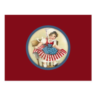 Vintage Patriotic Child Postcard