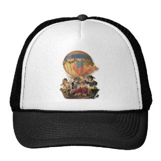 Vintage Patriotic, Children in a Hot Air Balloon Trucker Hat