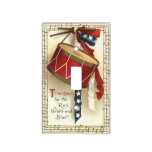 Vintage Patriotic, Drums with Musical Notes Light Switch Plates