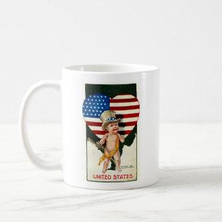 Vintage Patriotic Flag and Baby Mug