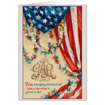Vintage Patriotic GAR Grand Army Of Republic Card