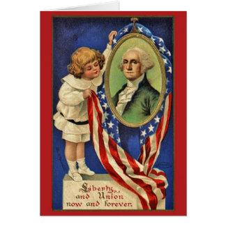 Vintage Patriotic George Washington Card
