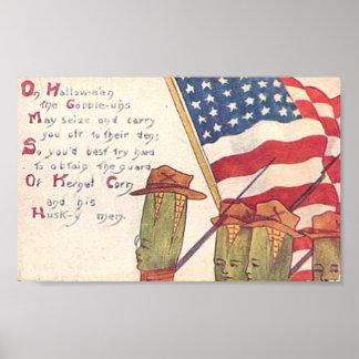 Vintage Patriotic Halloween Poster