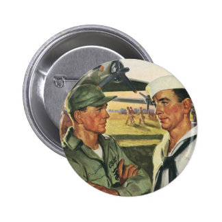 Vintage Patriotic Heroes, Military Personnel Button