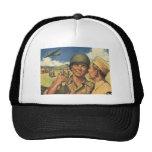 Vintage Patriotic Heroes, Military Personnel Plane Trucker Hat