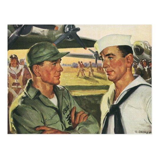 Vintage Patriotic Heroes, Military Personnel Postcard