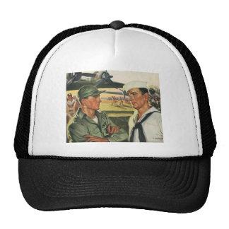 Vintage Patriotic Heroes, Military Personnel Trucker Hat