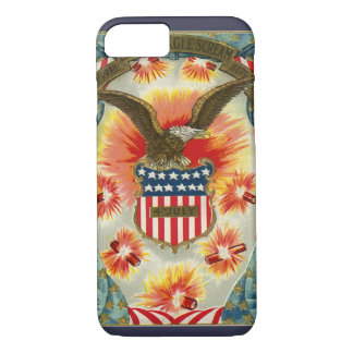 Vintage Patriotic July 4th Eagle and American Flag iPhone 7 Case