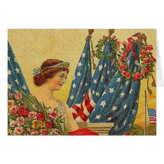 Vintage Patriotic Memorial Day Card