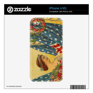 Vintage Patriotic Memorial Day Skins For iPhone 4S