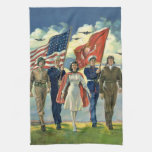 Vintage Patriotic, Military Personnel Hand Towel