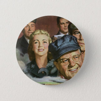 Vintage Patriotic Patriotism, Business Occupations Button