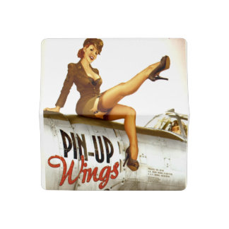 Vintage Patriotic Pin-Up Check Book Cover
