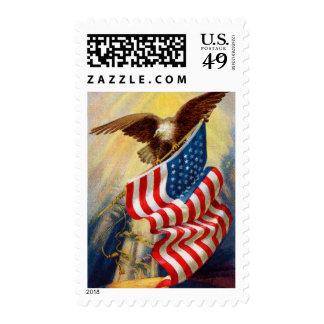 Vintage Patriotic Postage