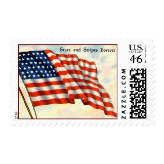 Vintage Patriotic Postage Stamps