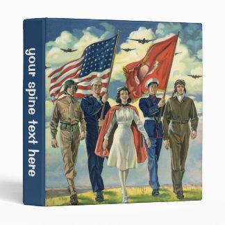 Vintage Patriotic, Proud Military Personnel Heros Binder