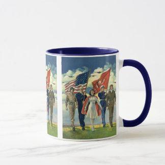 Vintage Patriotic, Proud Military Personnel Heros Mug