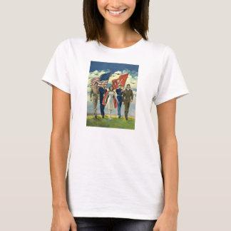 Vintage Patriotic, Proud Military Personnel Heros T-Shirt