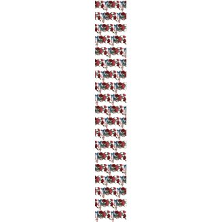 Vintage Patriotic Ribbon and Flowers tie