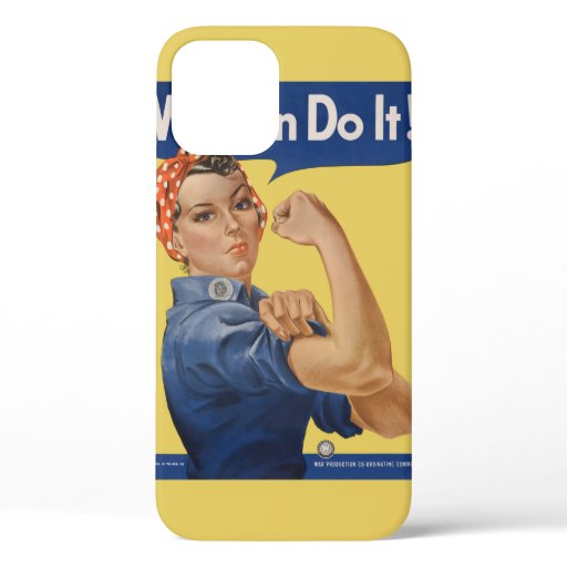 Vintage Patriotic Rosie the Riveter, We Can Do It! iPhone 12 Pro Case