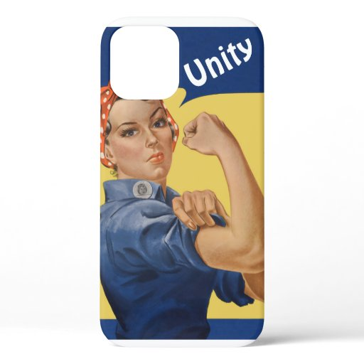 Vintage Patriotic Rosie the Riveter, We Can Do It! iPhone 12 Case