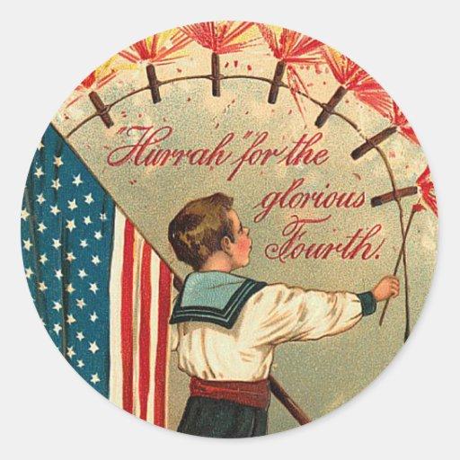 Vintage Patriotic Sailor Sticker