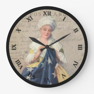 Vintage Patriotic Sewing Clock