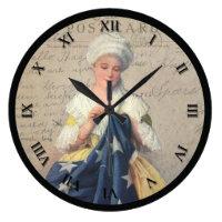 Vintage Patriotic Sewing Clock
