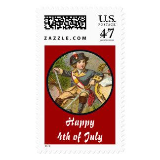 Vintage Patriotic_Soldier Postage Stamp