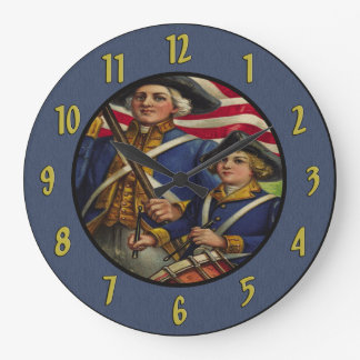 Vintage Patriotic Soldiers Wall Clock