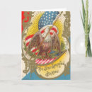 Vintage Patriotic Star Spangled Banner Card