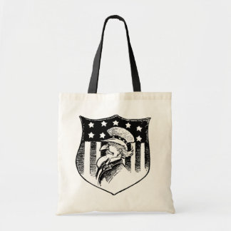 Vintage Patriotic Uncle Sam and American Flag Tote Bag
