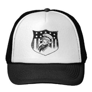 Vintage Patriotic Uncle Sam and American Flag Trucker Hat