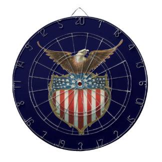 Vintage patriótico, Eagle calvo con la bandera
