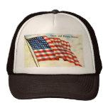 Vintage patriótico el 4 de julio gorras