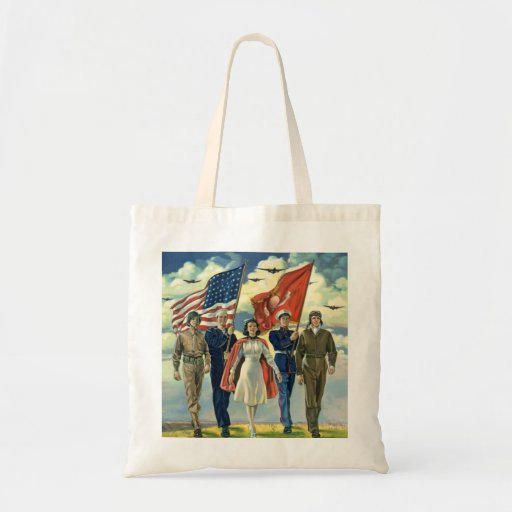 Vintage patriótico, héroes orgullosos del personal