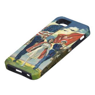 Vintage patriótico, héroes orgullosos del personal iPhone 5 Case-Mate cárcasa