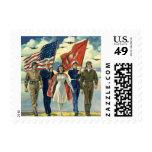 Vintage patriótico, personal militar