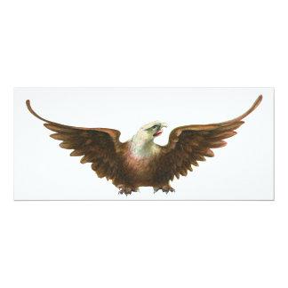 Vintage Patriotism American Bald Eagle Bird Flying Card