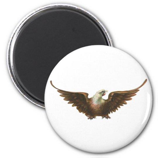 Vintage Patriotism American Bald Eagle Bird Flying Magnet