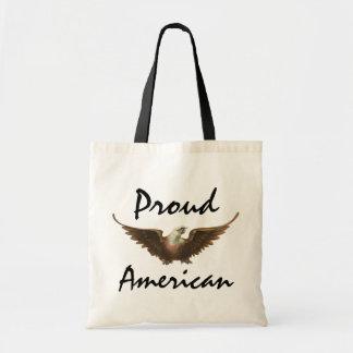 Vintage Patriotism American Bald Eagle Bird Flying Tote Bag