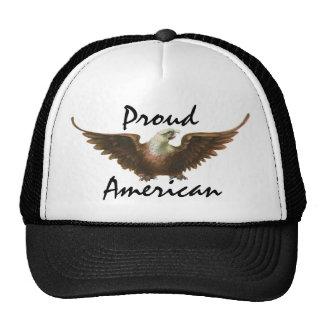 Vintage Patriotism American Bald Eagle Bird Flying Trucker Hat