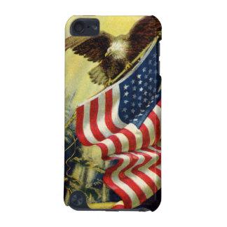 Vintage Patriotism, Patriotic Eagle American Flag iPod Touch 5G Cover