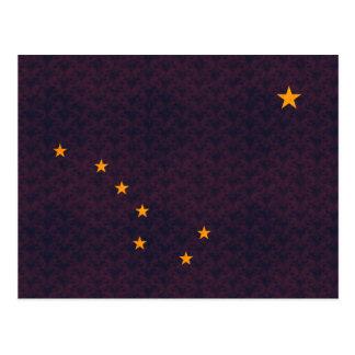 Vintage Pattern Alaskan Flag Postcard