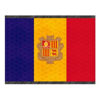 Vintage Pattern Andorran Flag Postcard