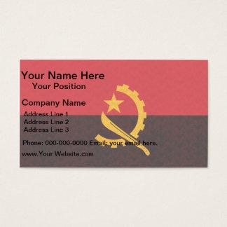 Vintage Pattern Angolan Flag Business Card