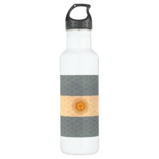 Vintage Pattern Argentinean Flag 24oz Water Bottle
