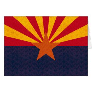 Vintage Pattern Arizonan Flag Greeting Cards